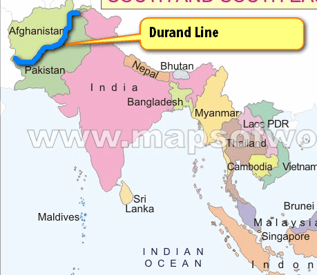 Diplomacy durand line baluchistan gwadar port indiapakistan map durand line afghanistan gumiabroncs Image collections